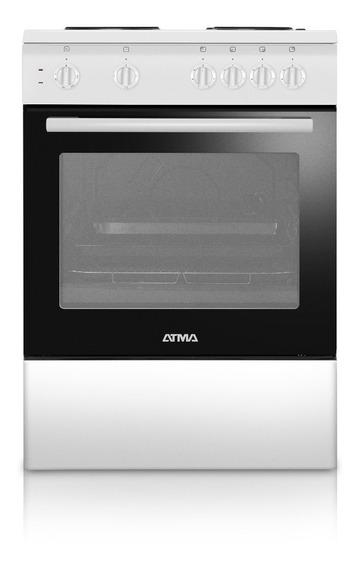 Cocina Electrica Atma Cce3120b 60cm Blanca Envio Gratis