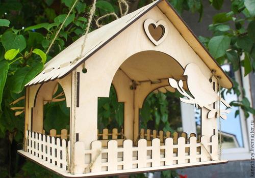 Imagem 1 de 1 de Casa Alimentador De Pássaros Em Mdf Cru
