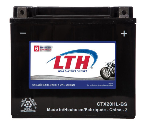 Imagen 1 de 8 de Batería Lth Agm Moto Honda Vtx1800c 2005 1800cc