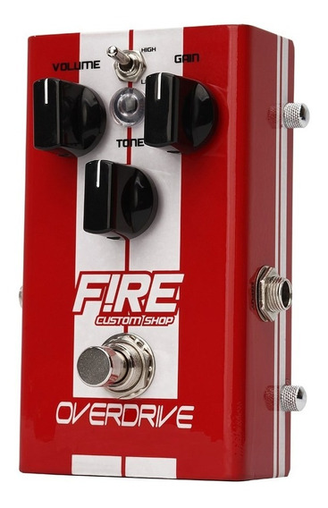 Pedal Overdrive - Fire Custom Shop - Pedal De Overdrive