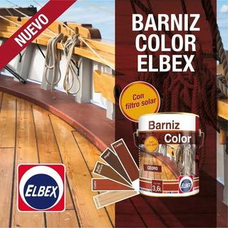 Barniz Color Elbex 3.6 Lts Envios A Todo El Pais Gratis