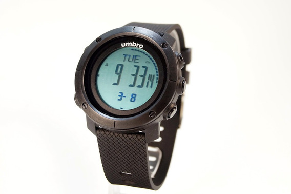 Relógio De Pulso Umbro Umb-121-2 Pedometro Preto Garantia Nf