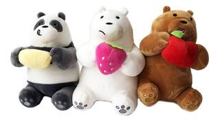 3 Peluches Osos Escandalosos Panda Polar Pardo Envío Gratis
