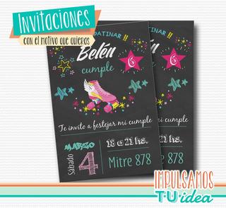 Tarjeta Invitacion Soy Luna Patin En Mercado Libre Argentina