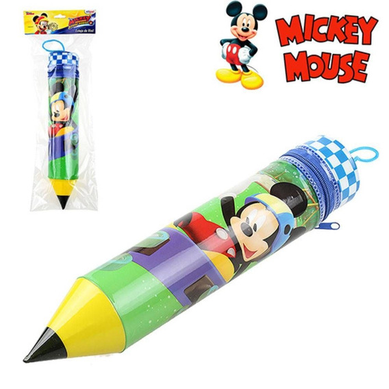 Estojo Escolar Formato Lápis Mickey 26cm