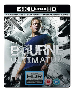 Blu Ray 4k Ultra Hd O Ultimato Bourne - Dub/leg. C/luva. Lac