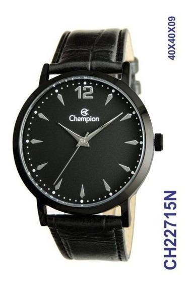 Relógio Masculino Champion Analógico Ch22715n Couro Original