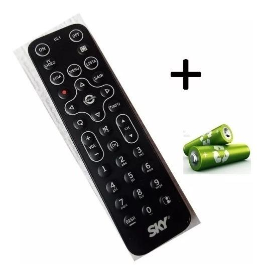 Kit 10 Controle Remoto Sky Hd Zapper E Hd Slim + Pilha