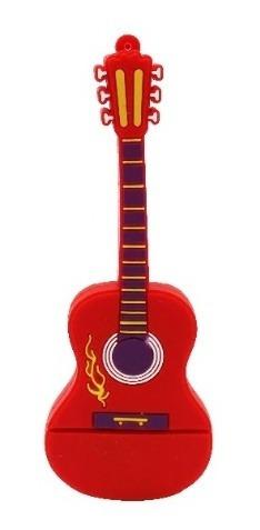 Pen Drive 4g Violão Guitarra Music Moonlight Vermelho