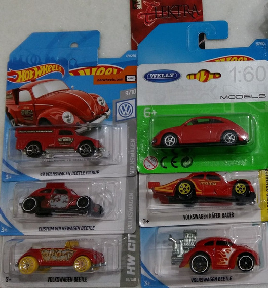 Hot Wheels E Welly 6 Minis Vw Fusca Pickup Beetle Kafer