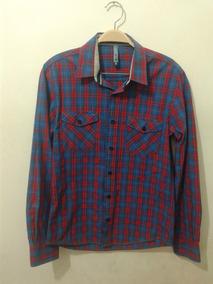 f3a070d10 Camisa Blue Steel Xadrez Manga Longa