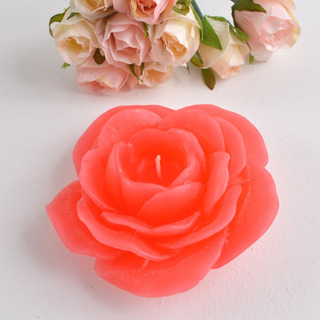 Caixa 3 Peças Vela Flutuante Flor Vermelha Para Eventos