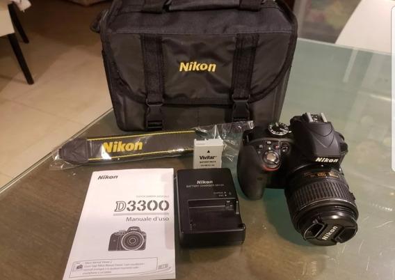 Nikon D3300 Con 18-55 Completa.