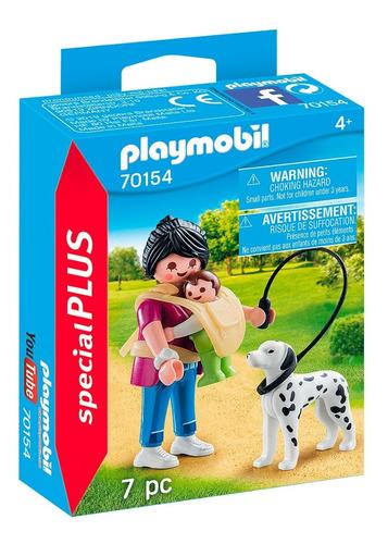 Playmobil Special Plus 70154 Mama Con Bebe Y Perro Intek