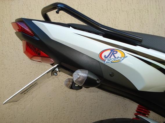 Eliminador Fazer 150 Pintado Preto Fosco C/ Manual Jr Racing