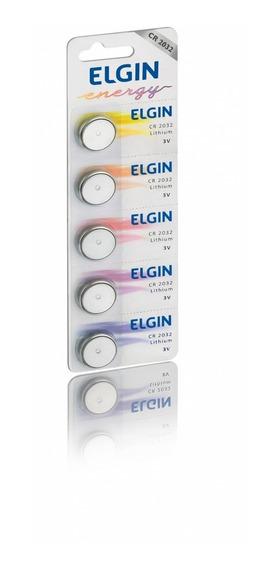 Lote Com 100 Bateria De Lithium Cr 2032 Elgin Cartela