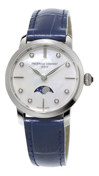 Reloj Frédérique Constant Slimline Moonphase Original 206mpwd1s6