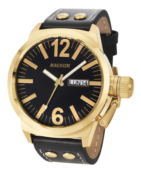 Relógio Magnum Masculino Dourado Ma31524u