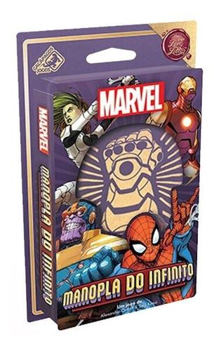Manopla Do Infinito Marvel Jogo De Cartas Galápagos Jogos
