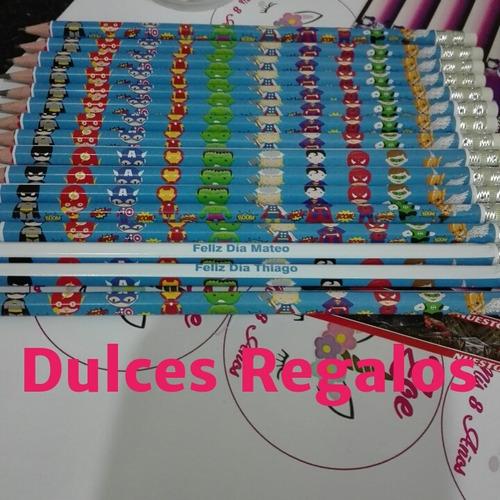 30 Lapices Personalizados+bolsita+tarjetita