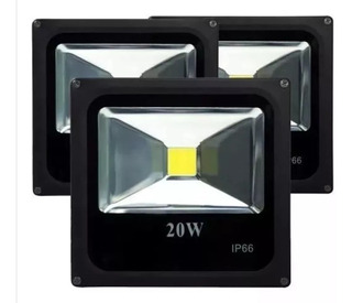 Foco Proyector Led Plano Reflector 20w Exterior / 001027