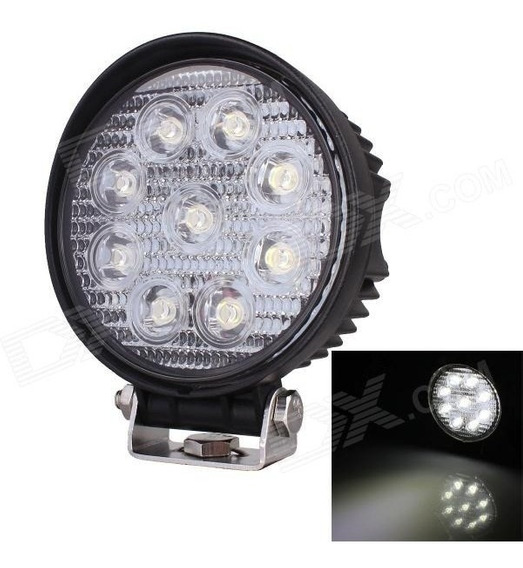 2 Faros Led Cree Barra 9 Led 27w Redondos Jeep 4x4 Off Road