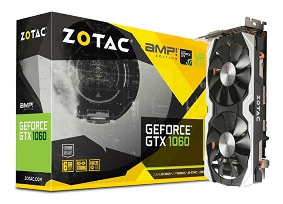 Zotac Geforce Gtx 1060 Amp Edition, Zt-p10600b-10m, 6gb Gddr