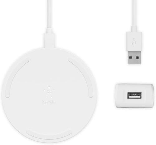 Cargador Belkin Wireless De 10 W + Cargador De Pared + Cable