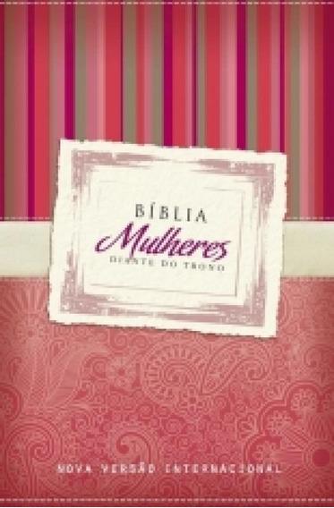 Biblia Mulheres Diante Do Trono - Nvi Vermelha Listras - Mun