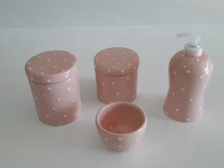 Potes Porcelana P/ Kit Higiene 4 Peças