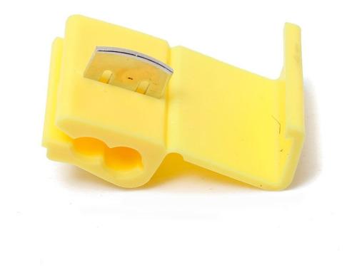 100 X Conector Derivação Emenda Cabos Fios Amarelo 2,5 A 6mm
