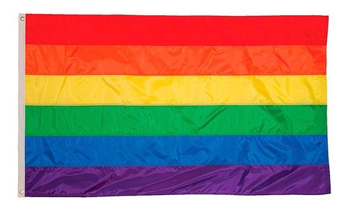 Bandeira Lgbt Gls Orgulho Gay Arco-íris Tamanho 60 X 90 Cm