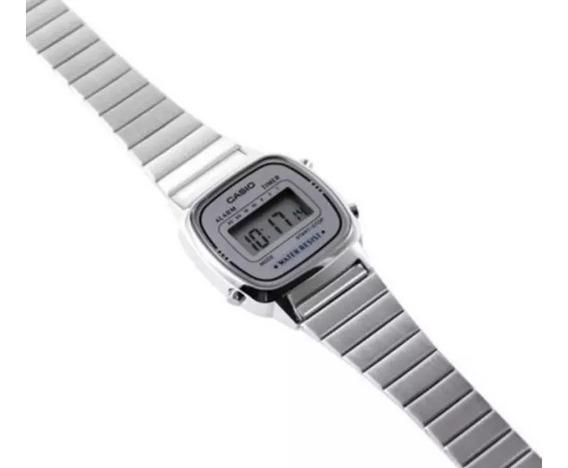 Relógio Casio Feminino La670 Cinza Rousevintage Tamanho Mini