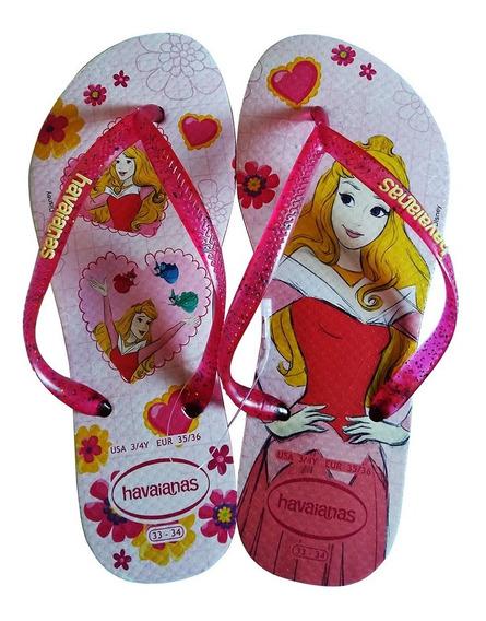 Sandalia Havaianas Kids Slim Princesas Disney Aurora