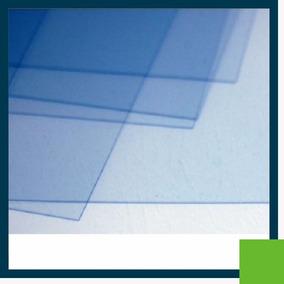 100 Folhas De Acetato 42x30cm Azulado Espessura 0,21mm
