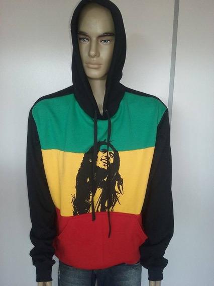 Blusa Moletom Personalizada Frente 3 Colors Bob Marley
