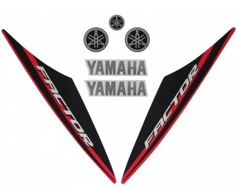 Kit De Adesivos Ybr 125 Factor 14 K1 Moto Cor Vermelha 10484
