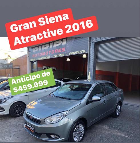 Fiat Grand Siena 1.4 Attractive 2016, $459.999 Y Cuotas