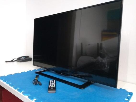 Tv Led 43 Aoc C/ Conversor Digital (usada) - Não É Smart Tv