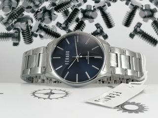 Reloj Feraud Azul Noche Acero Hombre Sumergible 30m Lf20083