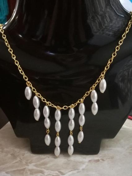 Collar Perla Fantasia Mayoreo $16pza