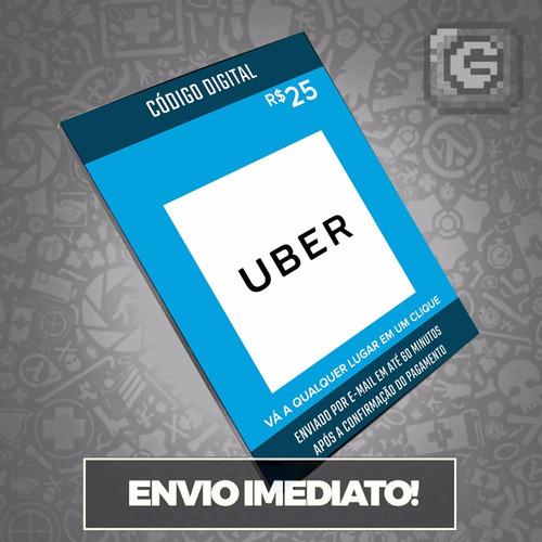 Cartão Pré-pago Uber R$ 25 Reais