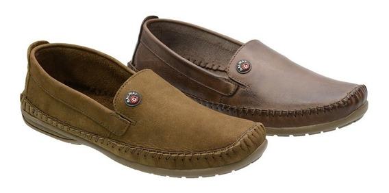 Sapato Masculino Em Couro Galway 760nl Kit 2 Pares 37 Ao 48