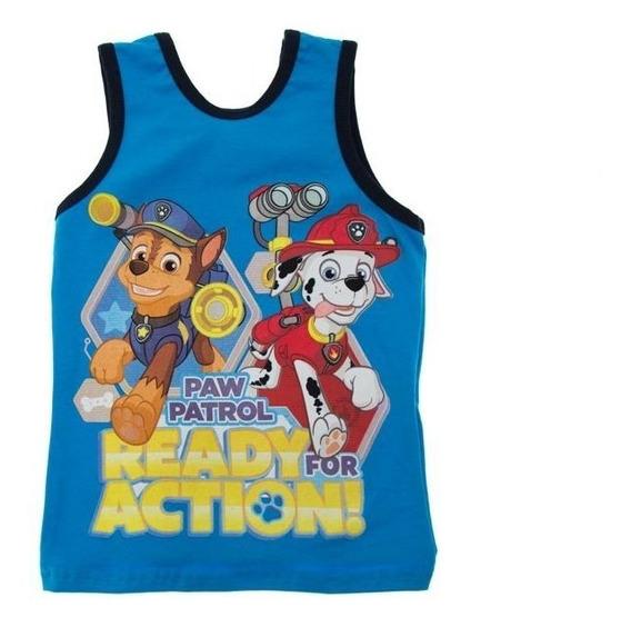 Paw Patrol Playera Para Niño Azul Talla 4, 6 Y 8 Años
