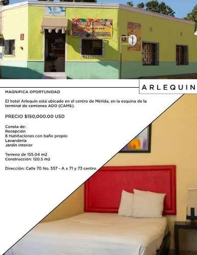 Centro De Merida Hotel Arlequin En Venta