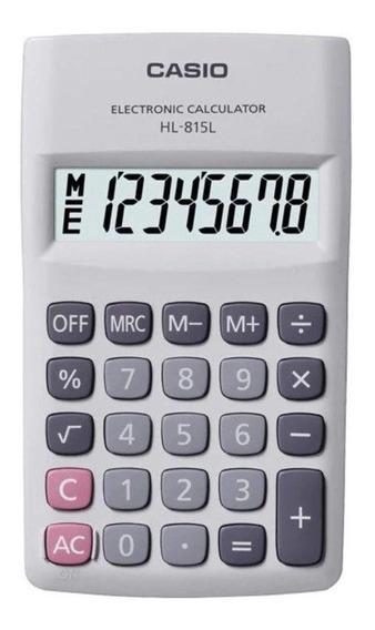Calculadora De Bolso Casio 8 Dígitos Branca - Hl-815l-we
