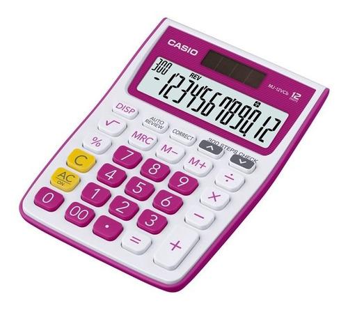 Calculadora Casio Escritorio Mj-12vcb-rd