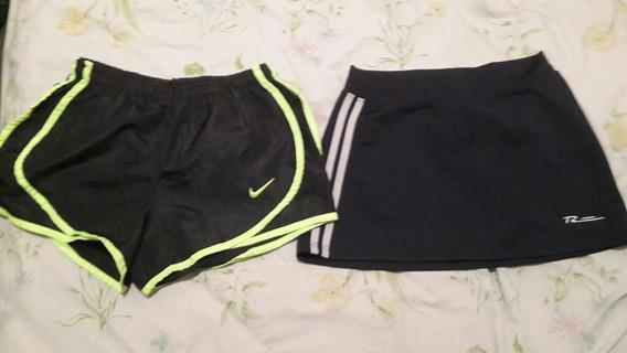 Short Nike Talle 4 Y Pollera Minifalda Tierraaerobica T M