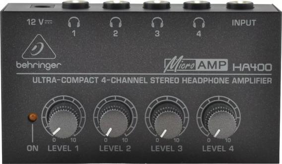 Amplificador De Fones Behringer Ha400