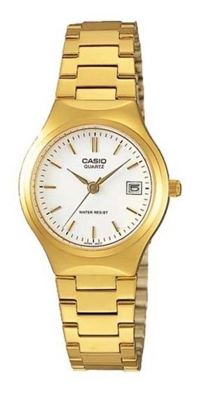 Casio Ltp 1170n-7 Relogio Feminino Retrô Dourado Elegante